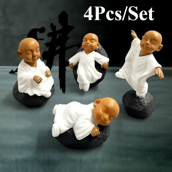 4 шт. Китайские буддийские монахи миниатюрные бонсай садовая мебель смола ремесло фигурка сказочный сад деко – купить по низким ценам в интернет-магазине Joom