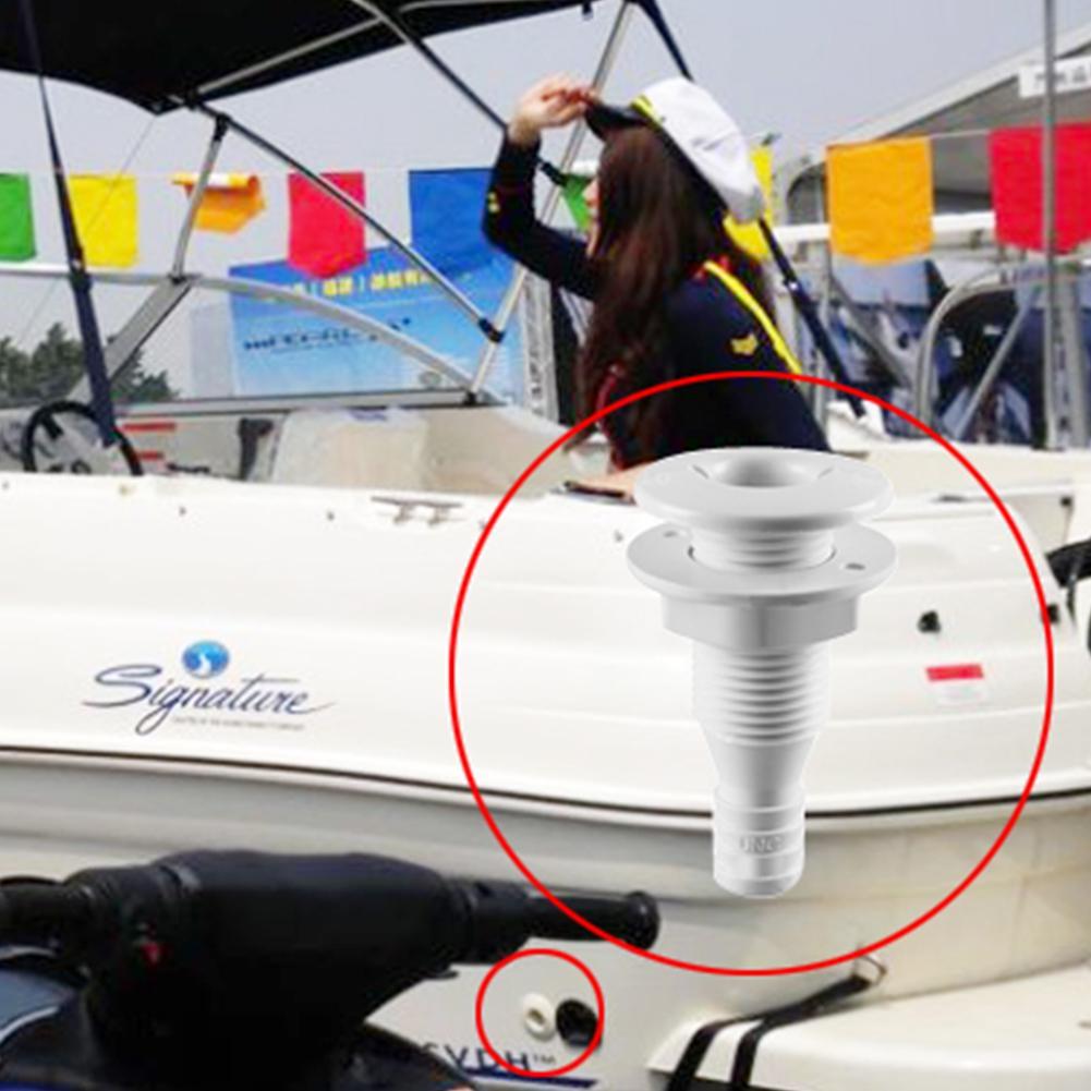 Boat Marine Yacht Pump Drain Vent Aerator Hose Fitting Plastic Thru Hull Bilge