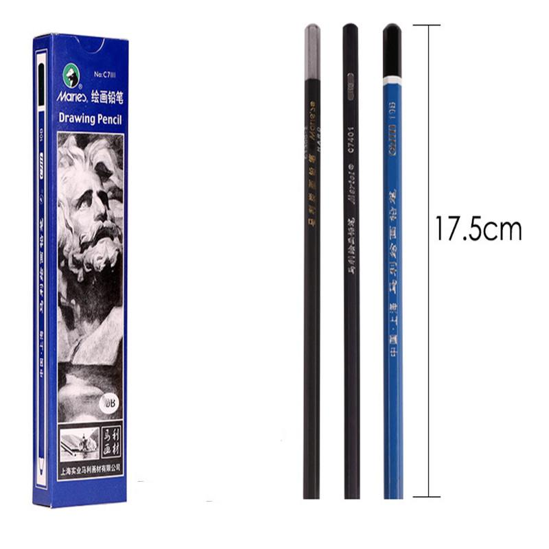 Artist Charcoal Sticks 24 PCS Professional Manga Sketch Drawing Charcoal Pencil Black//Pencil drawing sketch pencil without wood Whole Lead Core 4B