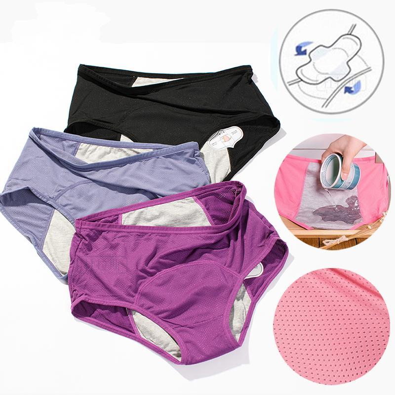 Breathable Women Lady Boxers Briefs Knickers Menstrual Period Underwear Panties