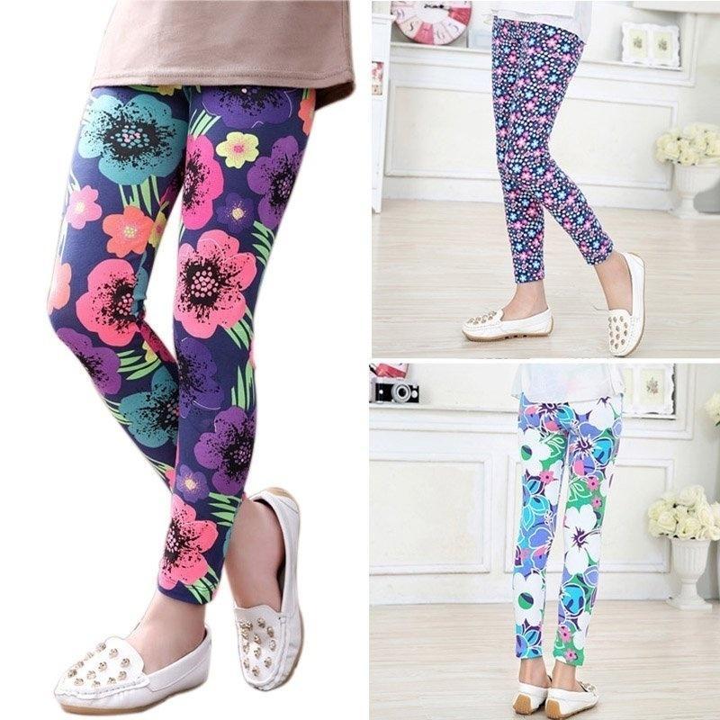 Kid/'s Flower patterned Leggings