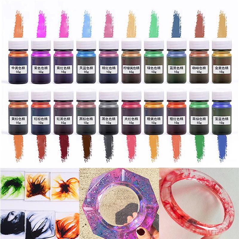 10g/бутылка смолы краситель УФ смешанные эпоксидной пигмент Ремесло DIY цвет красителя