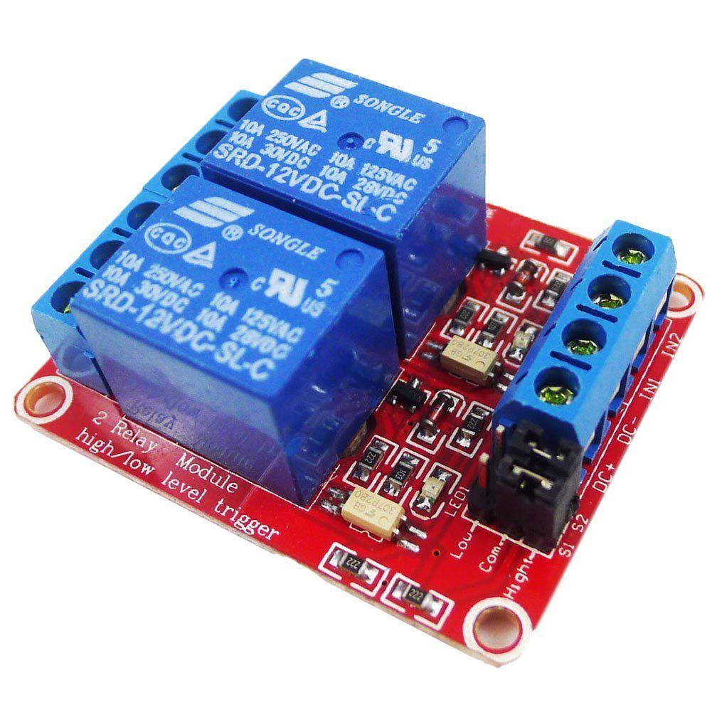 DC 24V 1-Channel Relay Module with Optocoupler H//L Level Trigger for Arduino