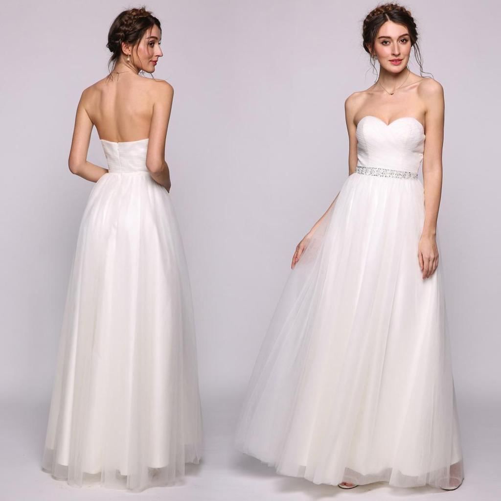 Frauen A-Line/Prinzessin Sweetheart Stock-Länge Tüll Brautkleid mit Rüschen  Perlen
