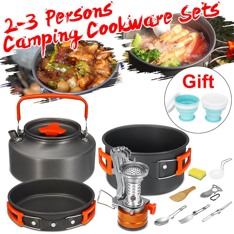 Cooking Set For Camping Hiking Compact Pan Pot Small Size Lightweight Outdoor 2