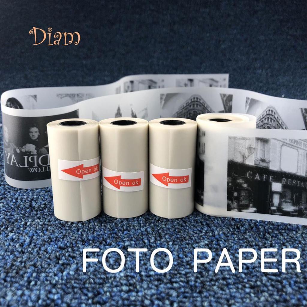 S Docooler PAPERANG 3 Rollen 57x30mm Selbstklebende Thermopapierrolle Wei/ßes klebriges Papier BPA-frei Langlebig 5 Jahre f/ür PAPERANG P1 Taschen-Thermodrucker S // P2