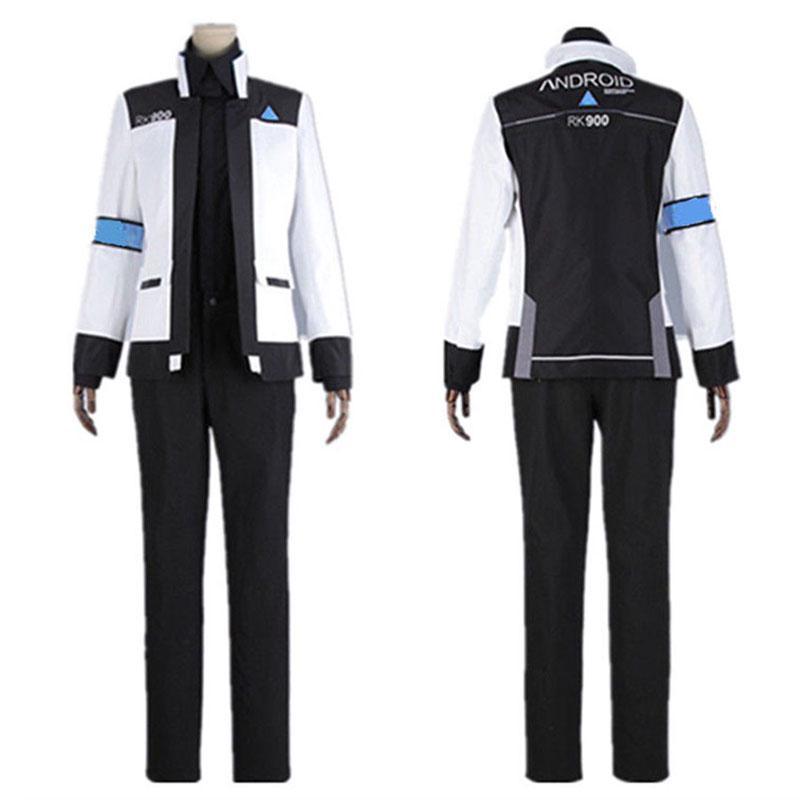 Tie+Pants Cosplay Costume Summer Detroit Become Human Connor RK800 Coat+Shirt