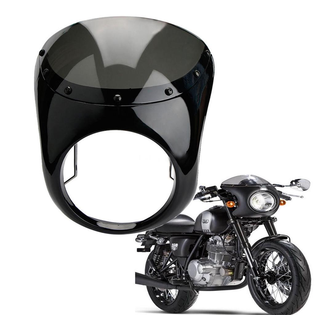 7 Pulgadas Motos Retro Cafe Racer Carenado Frontal Linterna Lámpara Parabrisas Parabrisas Abs Para Harley Comprar A Precios Bajos En La Tienda En Línea Joom