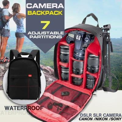 -76% · 4.6Price  23 Price  95. Waterproof DSLR Camera Backpack Shoulder Bag  Case 3 Colors Canon Nikon Sony For e548738497881