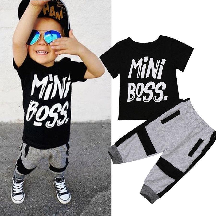 ❤️Toddler Kids Baby Boys Outfits Clothes T-shirt Tops Casual Camo Pants 2PCS Set