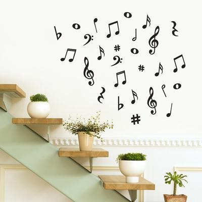 9b19358cff 2018 New Arrival Musical Variety Pack Wall Stickers Art Living Room Bedroom  Bathroom Home Decor