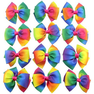 50Pcs Grosgrain Ribbon Boutique Hair Bows Round Dot For Baby Girls Gifts DIY Hot