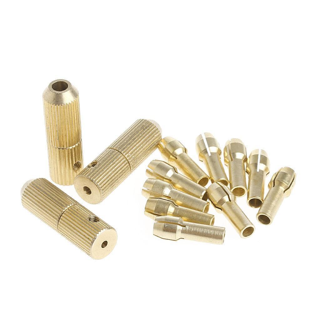 10Pc 0.5-3.2mm Micro Twist Hand Drill Kit Chuck Electric Drill Bit Collet+2.3mm