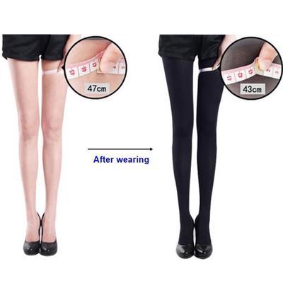 Women Black Slim Beauty Leg Shape Compression Burn Fat Thin Pantyhose Stocking
