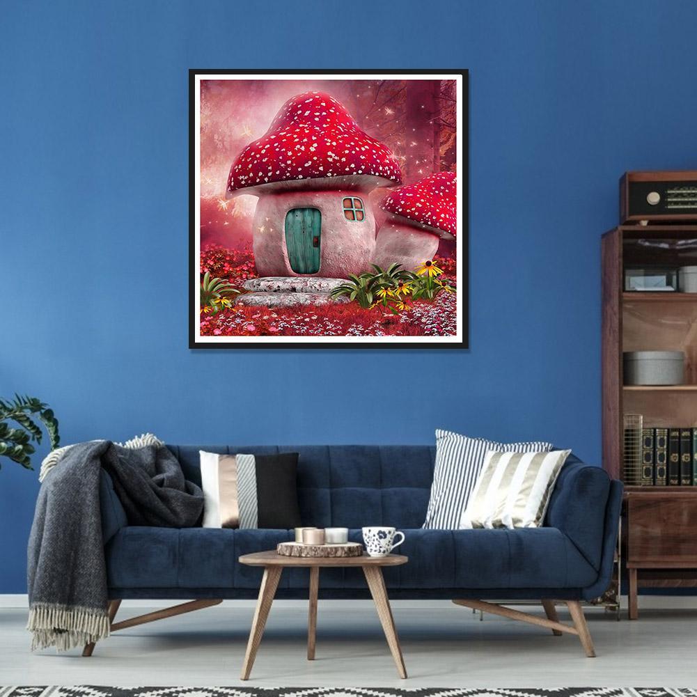 Full Drill DIY Diamond Painting Mushroom /& Tree Diamond Picture for Beginner