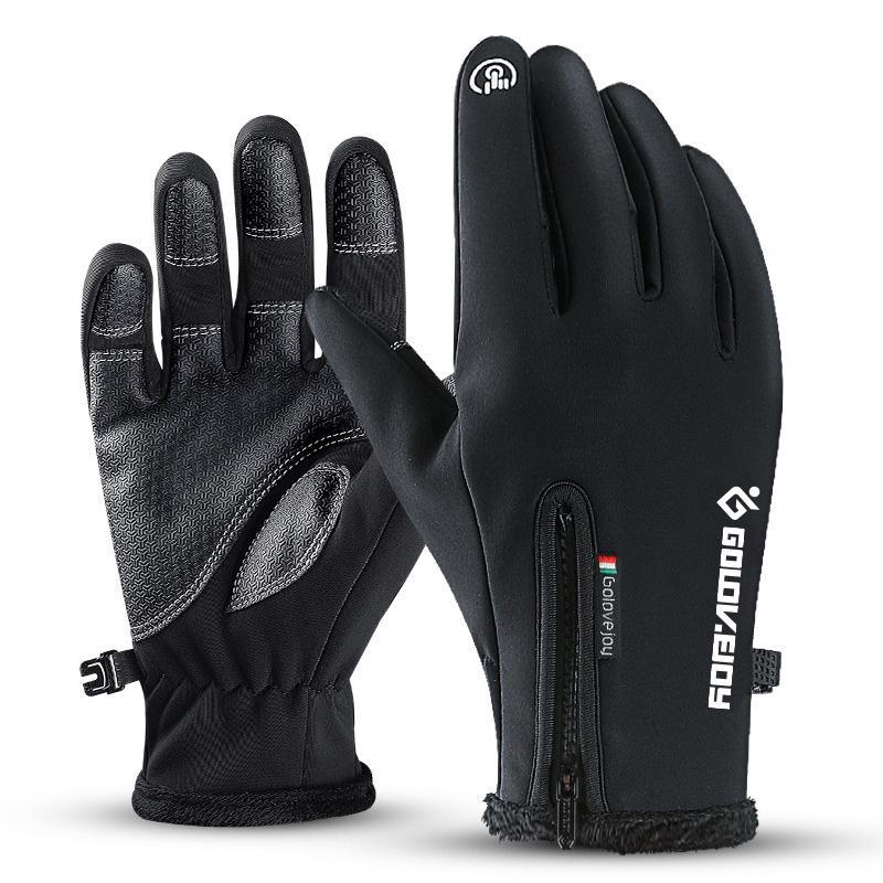 Men Women Winter Touch Screen Windproof Waterproof Outdoor Cycling Warm Gloves