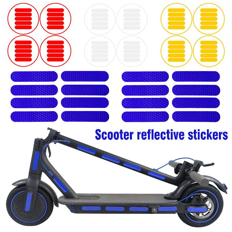 1 Set Reflective PVC Stickers Decal Decor For Ninebot Max G30 ES1 ES2 E-Scooter
