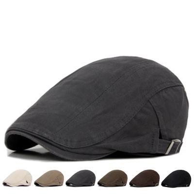 Pure Cotton Beret Cap Woman Fashion British Style Newsboy Hat Men Retro Flat Hats