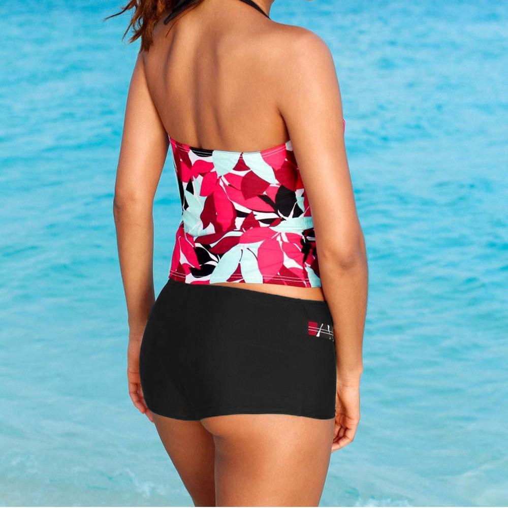 Summer Swimsuit Fxbar Women Bikini Set Bandage Letter Bra Beachwear Two Pieces Swim Top Boyshort