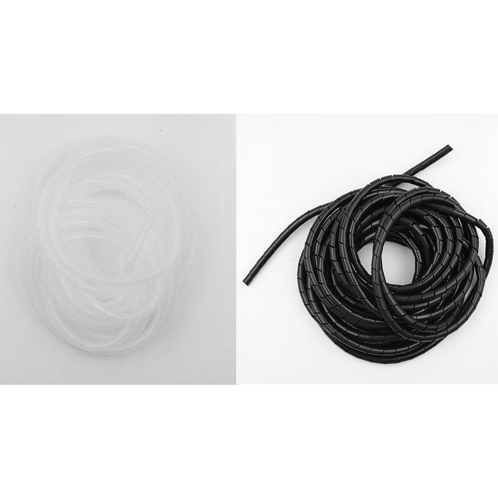 8M//25ft 8mm Wire Spiral Wrap Sleeving Band Tube Cable Wire Protector