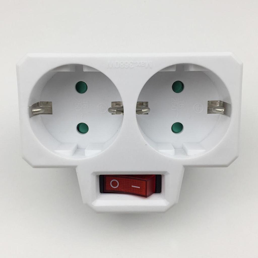 LPS ЕС Plug 16A 250V Портативный Главная Путешествия 1 до 2 Путь Адаптер Адаптер Преобразование Гнездо – купить по низким ценам в интернет-магазине Joom