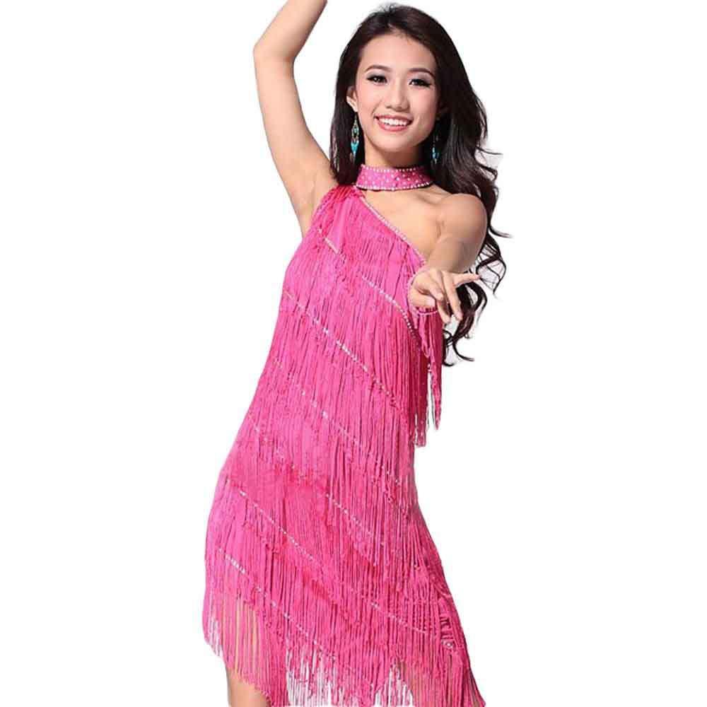 Las mujeres Latin Dance vestidos trajes de salón de baile vals baile ...