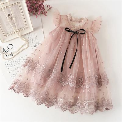 Baby Girl Lace Dress Princess Dress Tulle White Party Wedding Summer Dress Clothes