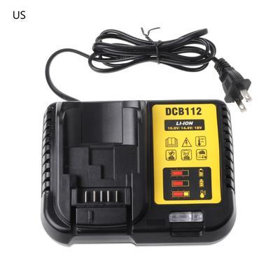 DCB112 Li-ion Battery Charger Replacement For Dewalt 10 8V 14 4V 18V US/EU  Plug