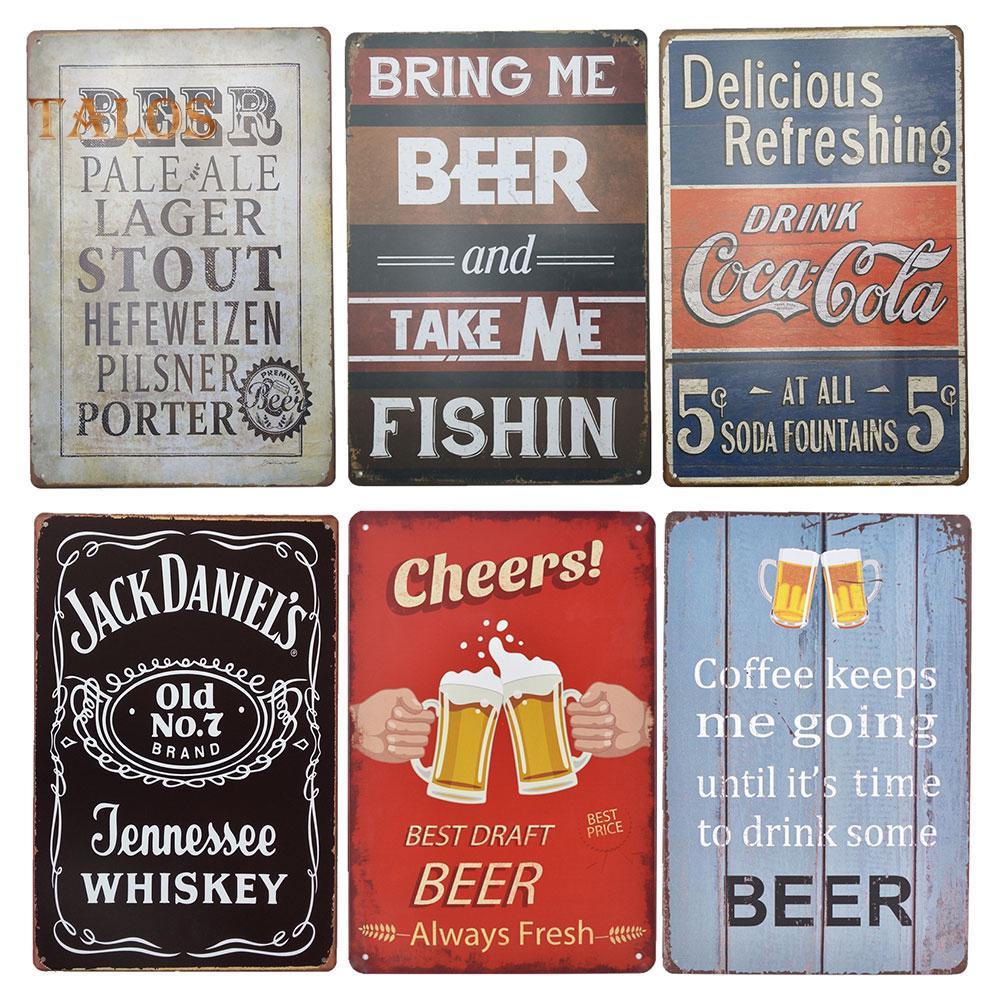 Chic Metal Tin Sign Plate Bar Pub Cafe Art Wall Door Slogan Poster Plaque 82