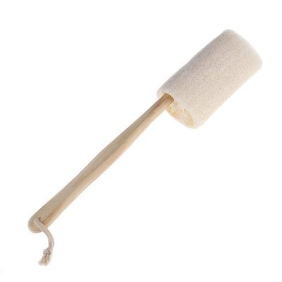 Natural Loofah Long Wood Handle Shower Bath Body Back Brush