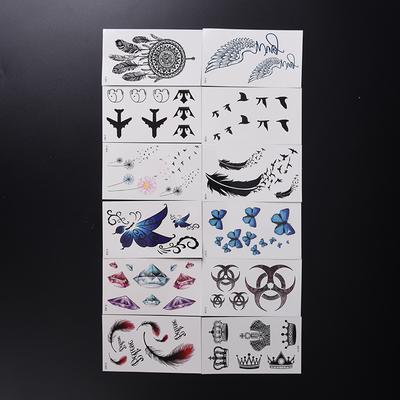Plume papillon Hirondelle tatouage imperméables effaçable