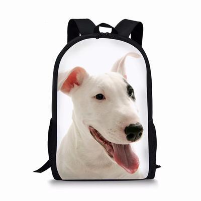 422418c77 Mochilas de los niños para los adolescentes mochila Bull Terrier impresión  deporte viaje bolsas mochila