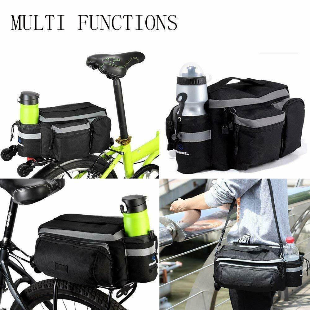 Cycling Bicycle Rear Seat Storage Trunk Bag Bike Pannier Rack Waterproof Handbag