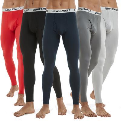 Men Soft Thermal Underwear Bottoms Warm Winter Long Johns Slimming Warm Leggings for Men