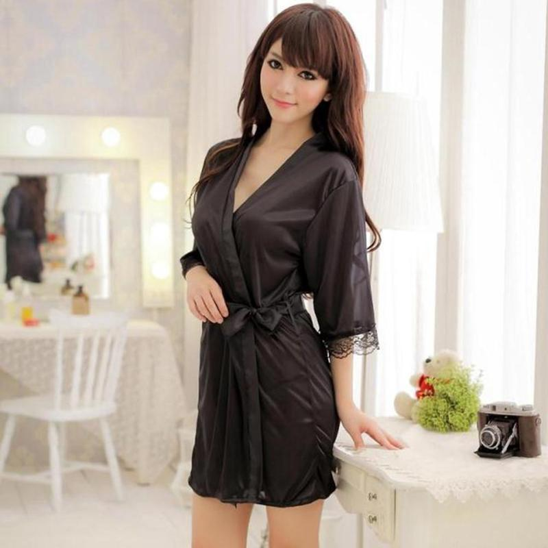 952239bcd1 Women s Lace Nightdress Sleepwear Lingerie Bathrobes Gown Kimono Robe  Little-buy at a low prices on Joom e-commerce platform