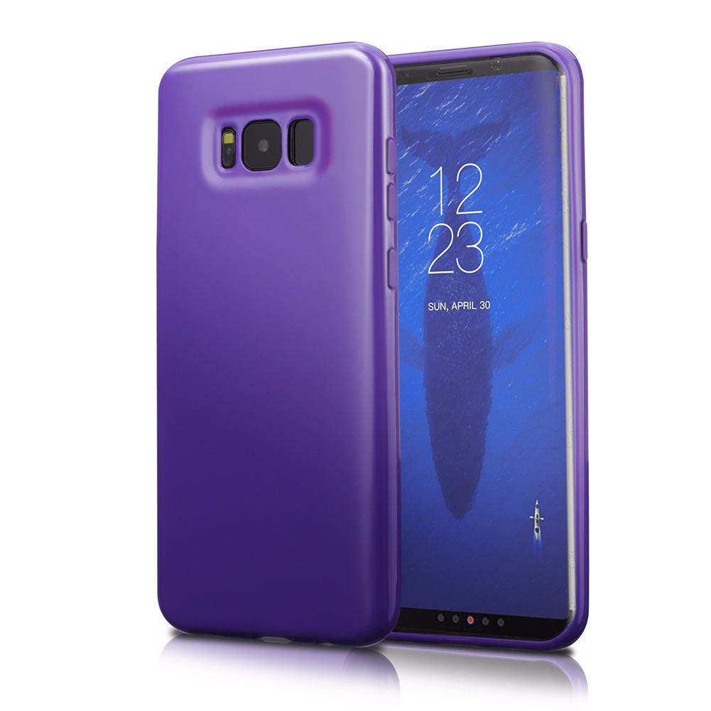 For Samsung Galaxy S8 Case Silicone Tpu Rubber Protective Cover Original Casing Fitted Skin Purple
