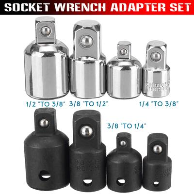 Steel Support Ratchet Wrench Socket Drive Adapter Reducer Air Impact Kit