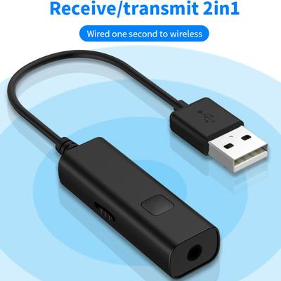 Bluetooth Transmitter Receiver Mini 3.5mm AUX Stereo Wireless Adapter For Car