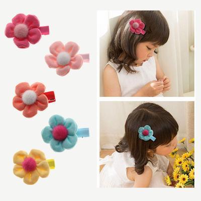 2Pcs Baby Girl Chiffon Baby Bowknot Hairpin Hair Clip Headwear Gauze Barrette d