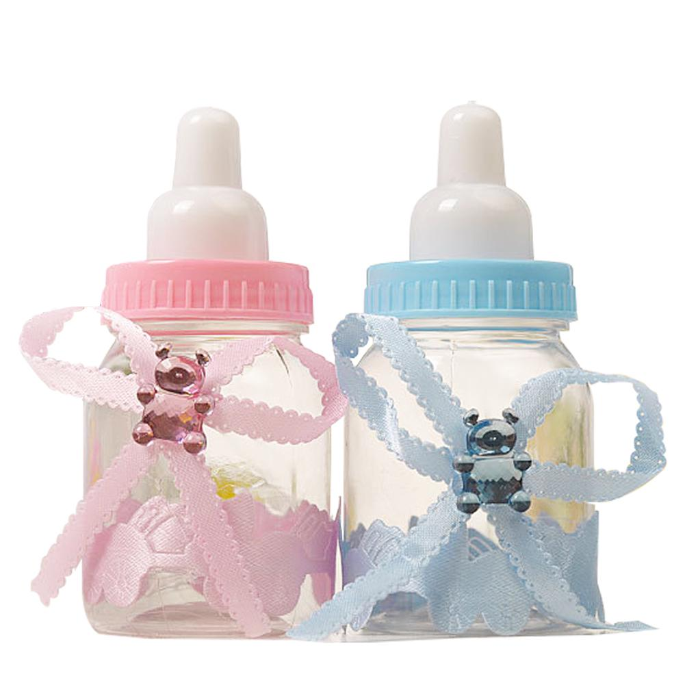 24X BABY BOTTLE BLUE BOY//GIRL BABY SHOWER PARTY CHRISTENING FAVOURS DECOR