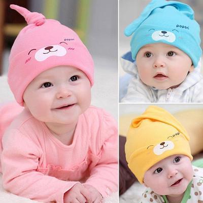 Newborn Baby Toddler Kids Boy Girls Bowknot Cute Soft Cotton Beanie Hat Warm Cap
