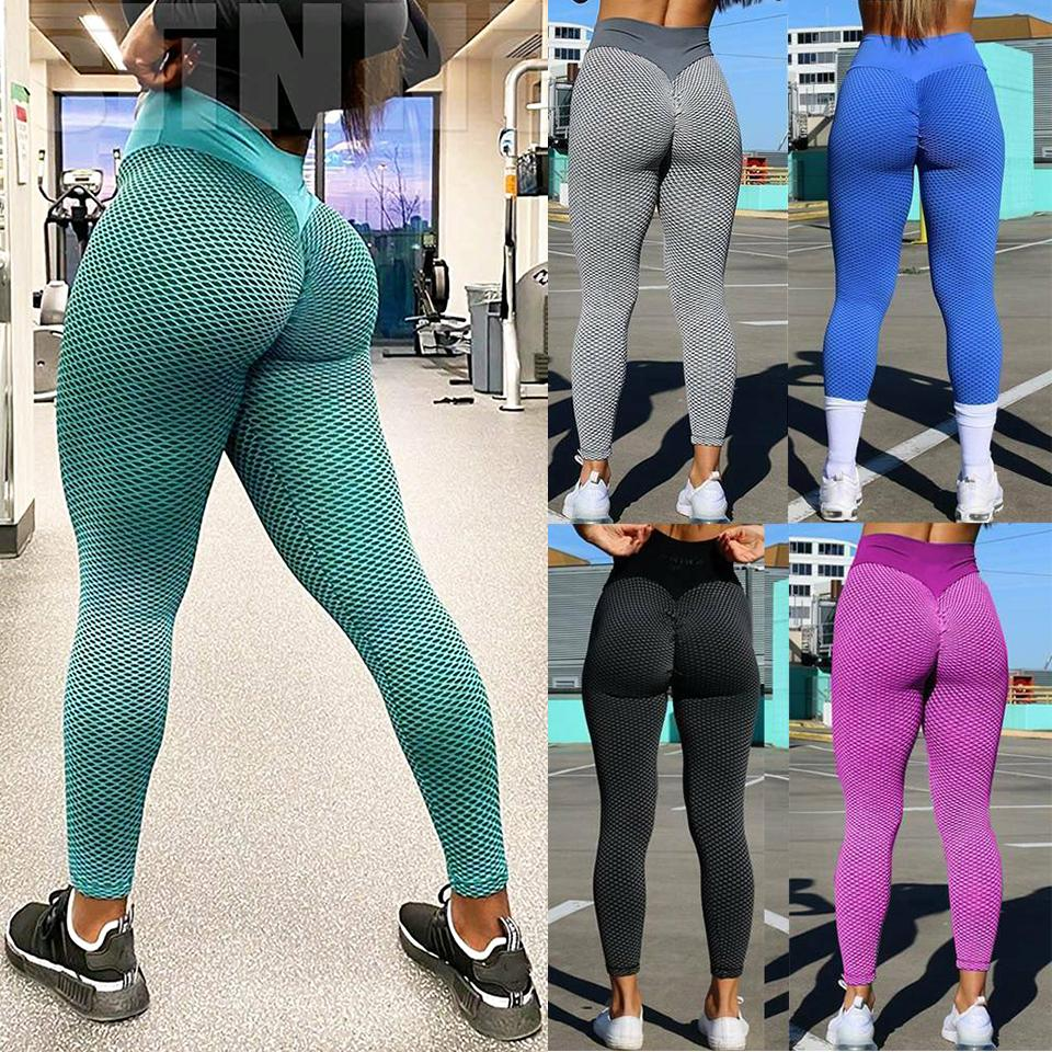 Yoga Pants for Women Fitness Compression Leggings Ruched Butt Tights 66