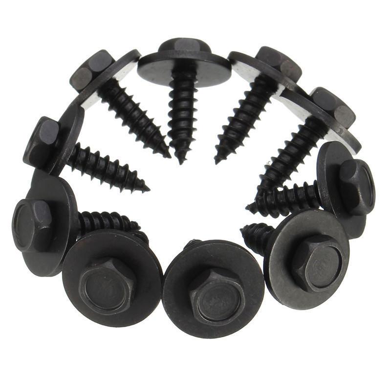 10pcs schwarz selbstschneidende Schraube Tapper & Unterlegscheibe ...
