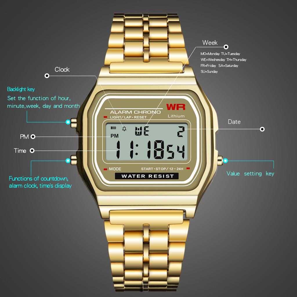 Мужчины Спорт часы Военные светодиодные цифровые водонепроницаемые кварц Wrist Часы фото