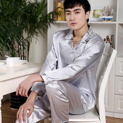 4deeb4dcae Men China Long Sleeve Soft Nightwear Silk Pajamas 2 Piece Set Spring Summer  Pyjama Homme Man