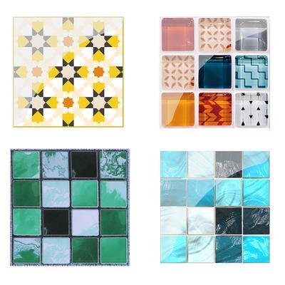 Home Decor 10 19pcs Mosaic Tile Art Wall Sticker Pvc Waterproof Diy Kitchen Bathroom Decor Home Garden Accelerateur Hec Ca