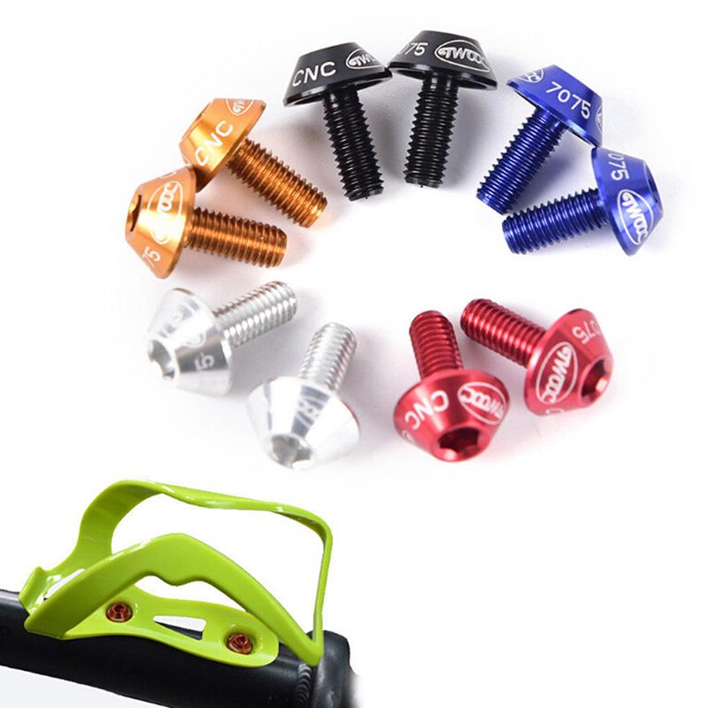 Bicycle Water Bottle Cage Holder Screw Bolts Durable Colorful Bike AccessorBLUS