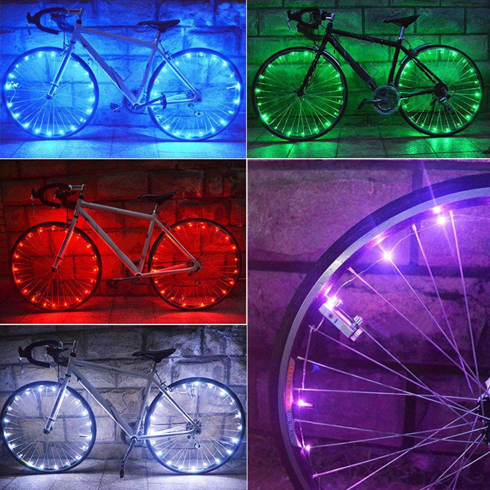 4 x couleur led néon vélo voiture roue pneu valve dust cap caps parle lumières de sécurité