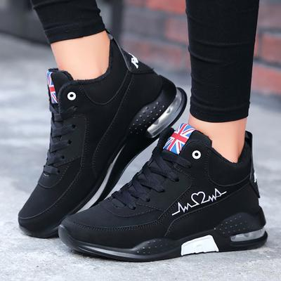 [Coconut Tree] Women's High-Top Cotton Shoes Student Lace Up Casual Sneakers Winter Shoes