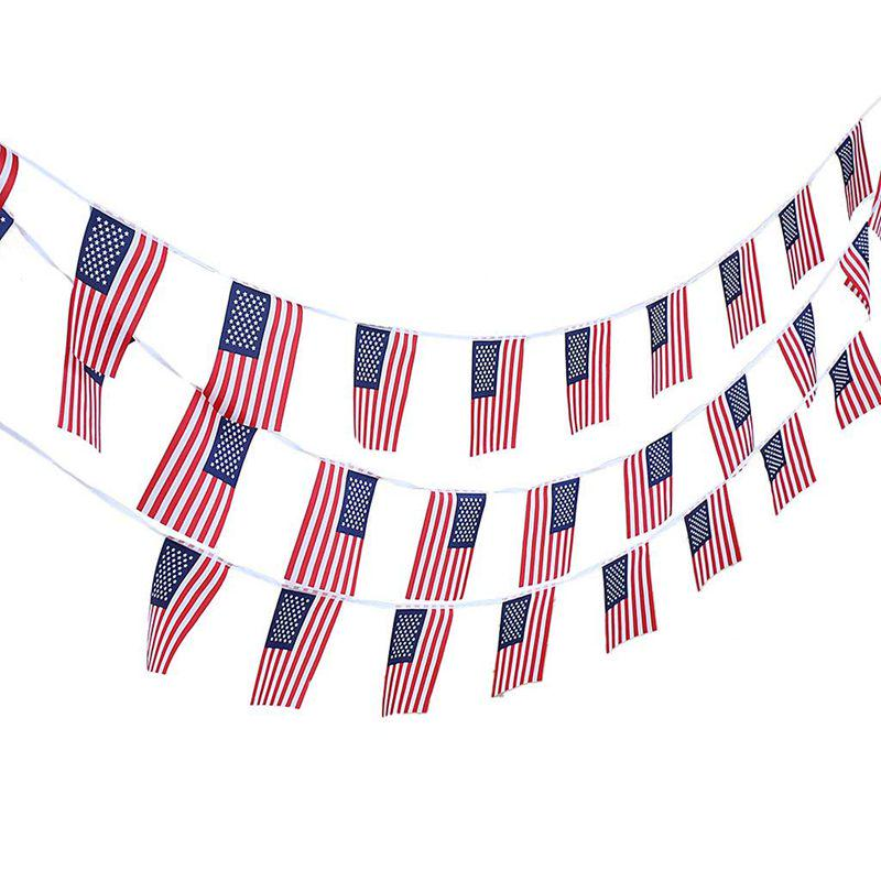 30Pcs 10meter Country Flags String Bunting Banner Garland Party Garden Décor